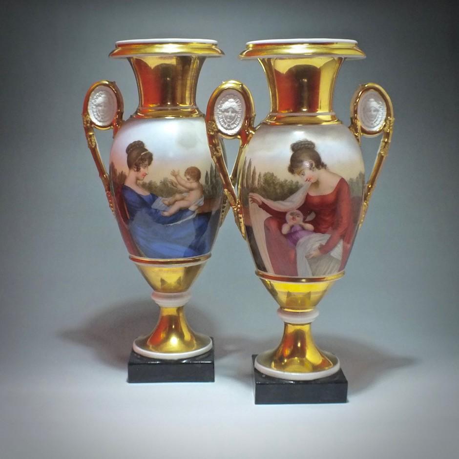Paris - Pair of vases - Period Restoration - early nineteenth century - SOLD