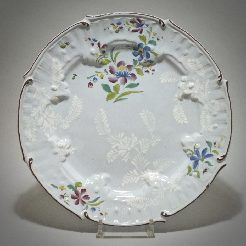 Saint-Amand-les-Eaux - Dish flower of India - Eighteenth Century
