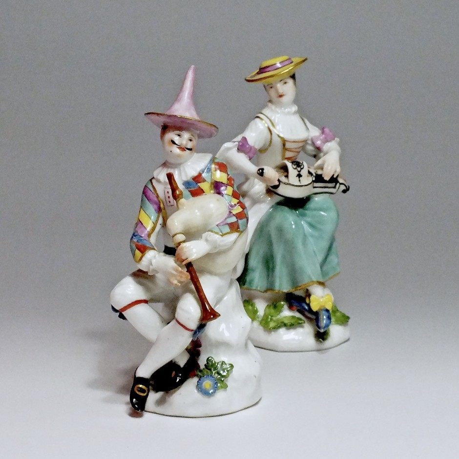 Meissen - Harlequin and Columbine - j.j Kandler - eighteenth century