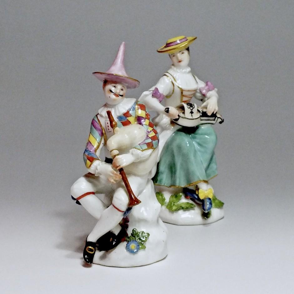 Meissen - Arlequin et Colombine - j.j Kandler - XVIIIe siècle