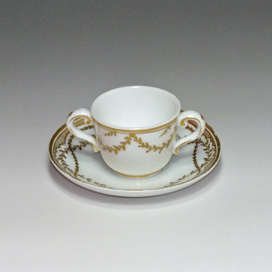 Vincennes (Seguin) - Hard porcelain - toilet Cup - Eighteenth Century