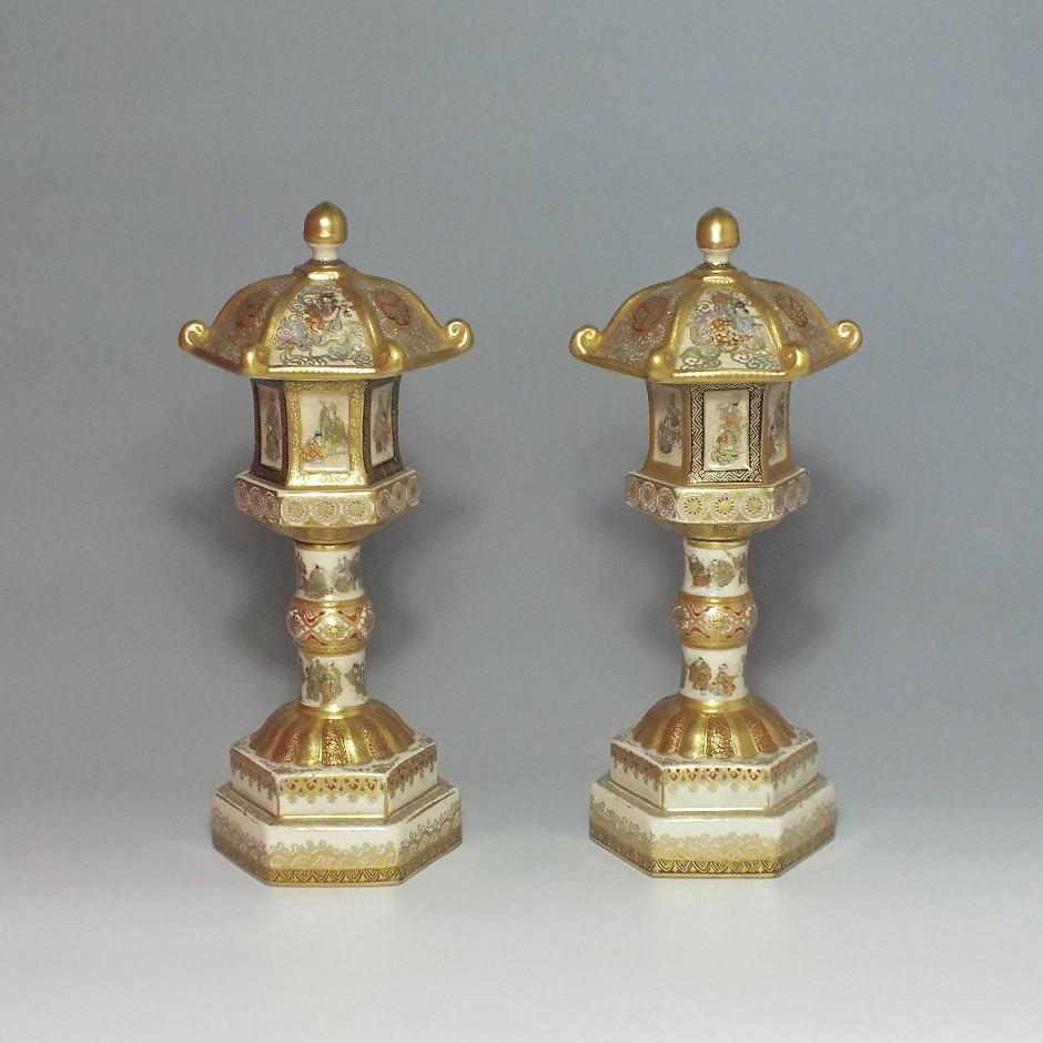 Satsuma (Japon) - Paire de lanternes - Époque Meiji -  XIXe Siècle