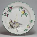 "Earthenware plate of Marseille called ""a la bouillabaisse"" - eighteenth century"
