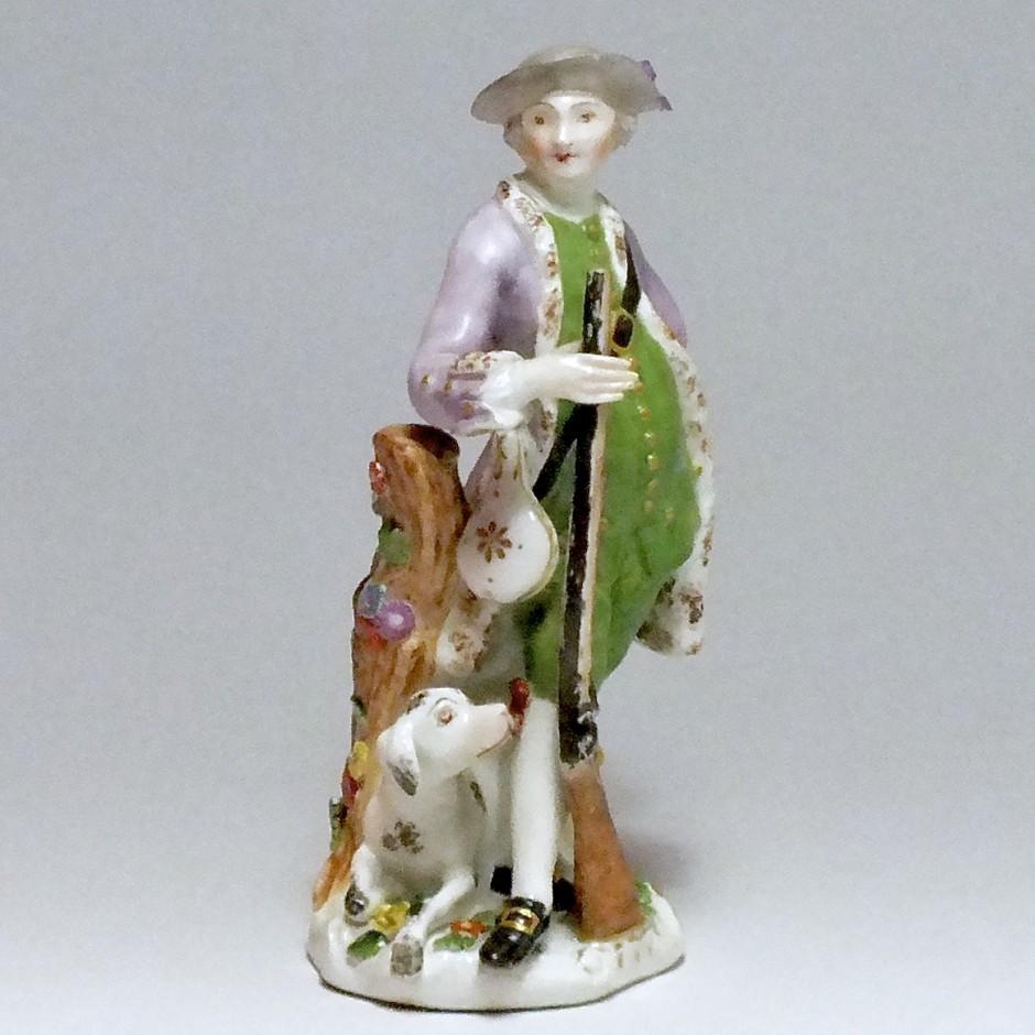 Meissen - Statuette d'un chasseur - XVIIIe siècle