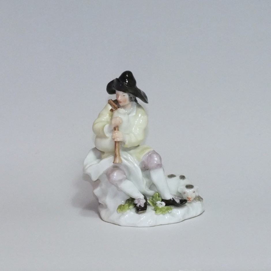 Meissen - Bagpipe player - eighteenth century