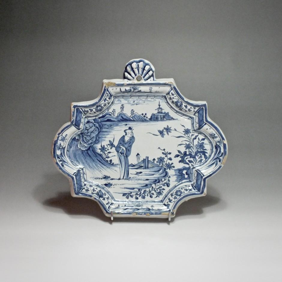 Delft - Delft earthenware plate - Eighteenth Century