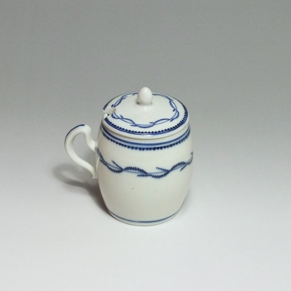 Arras - soft porcelain - Mustard pot - eighteenth century