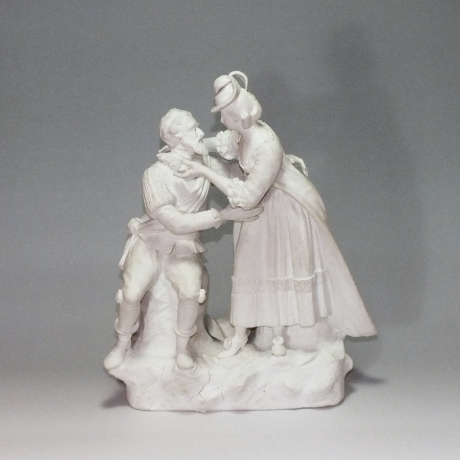 Paris or Niderviller - biscuit group - End of the eighteenth century