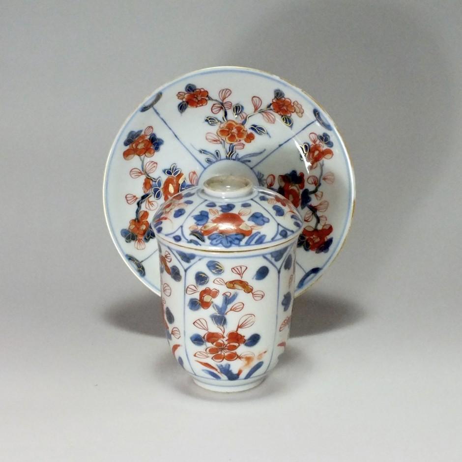 China - covered goblet decorated Imari - eighteenth century