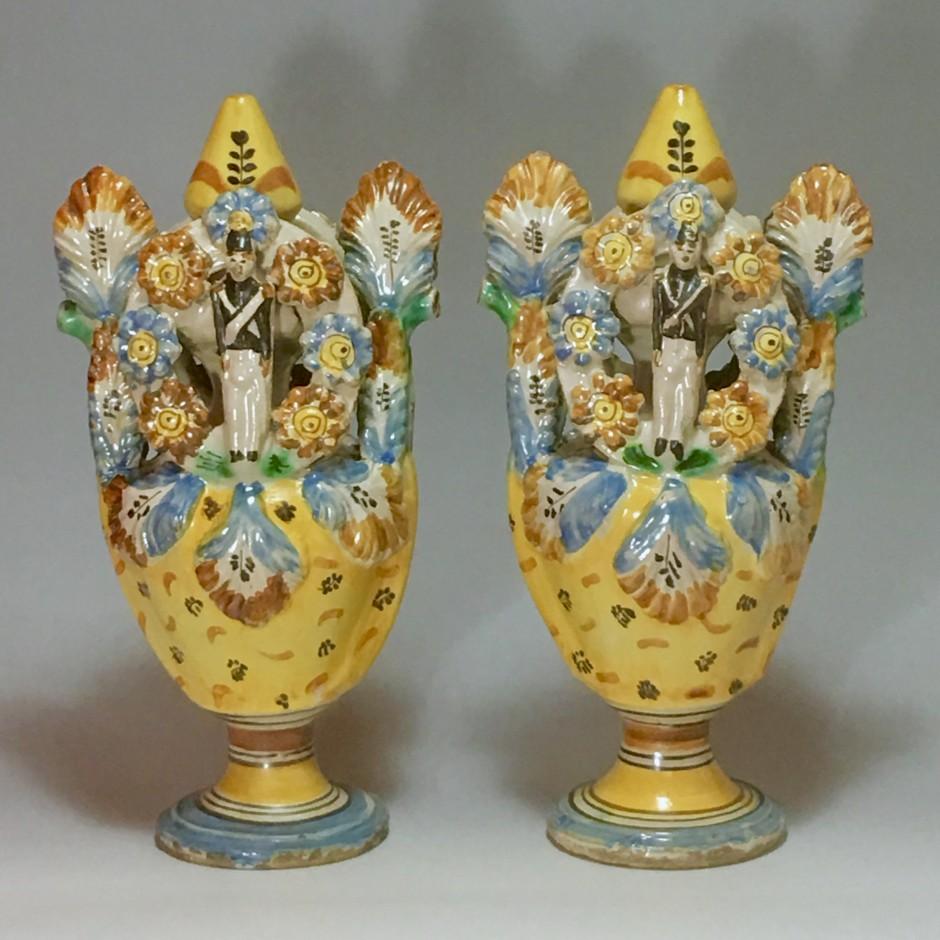 Ariano Irpino (Italie) - Paire de vases - Vers 1800