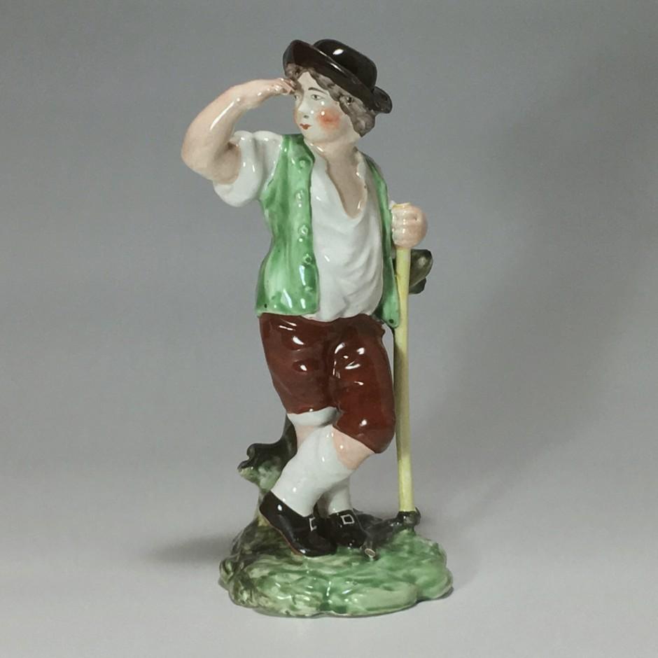 Luneville - Statuette d'un jeune moissonneur - XVIIIe siècle