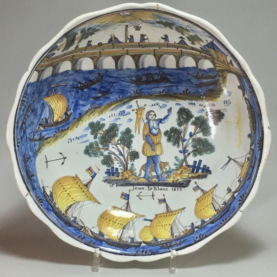 saladier au pont de Nevers - Daté 1813 - VENDU