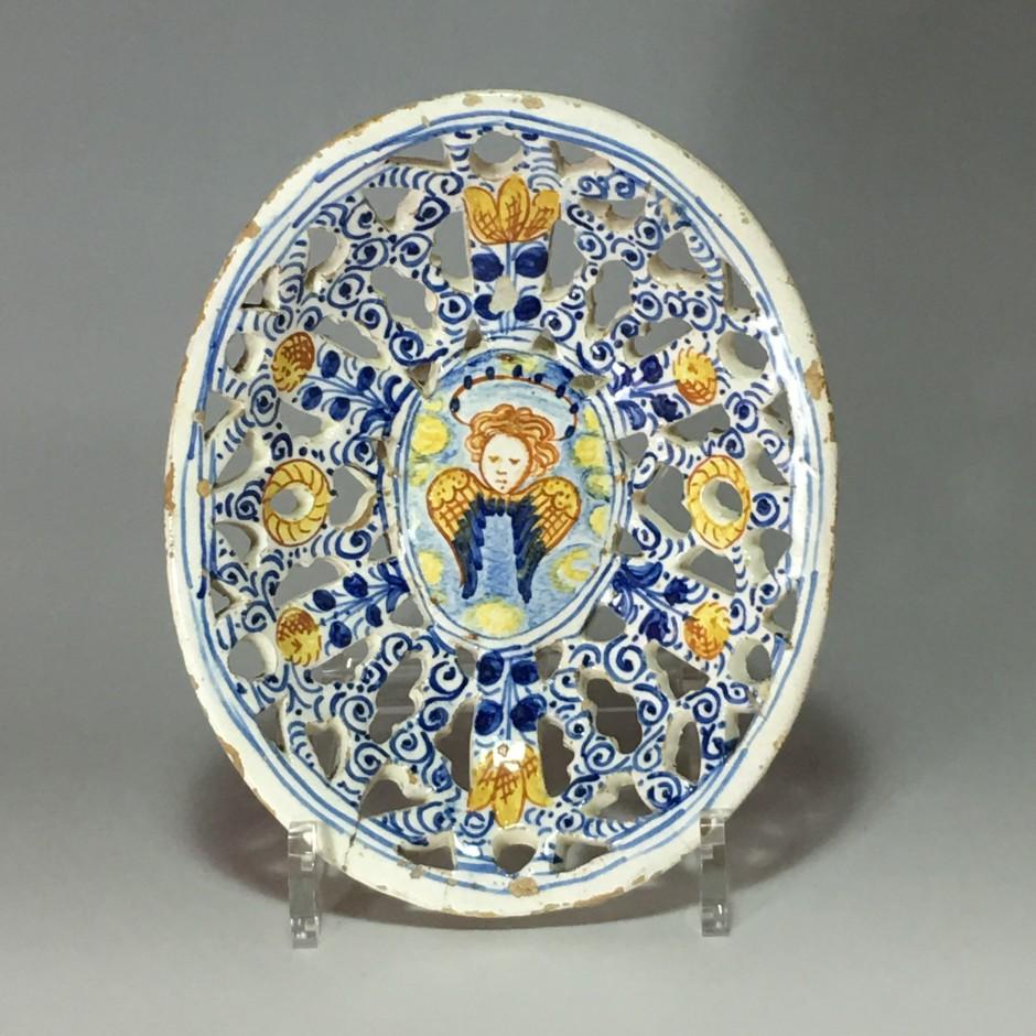 Italy - pierced polychrome Cup - seventeenth century