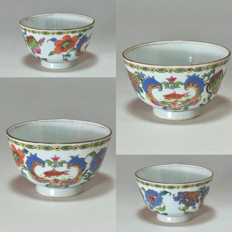 """Chine - Bol à décor dit """"Pompadour"""" - Époque Qianlong (1736-1795)"""