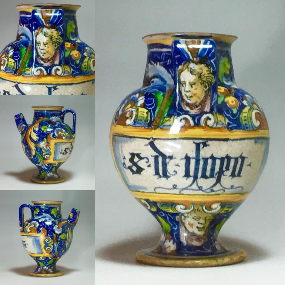 Venice - Rare vase of apothecary - Atelier de Maestro Domenico - XVIth century