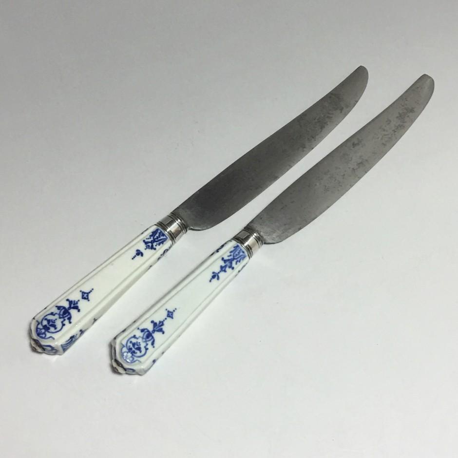 Chantilly - Paire de couteaux - XVIIIe siècle - Vers 1730-1740