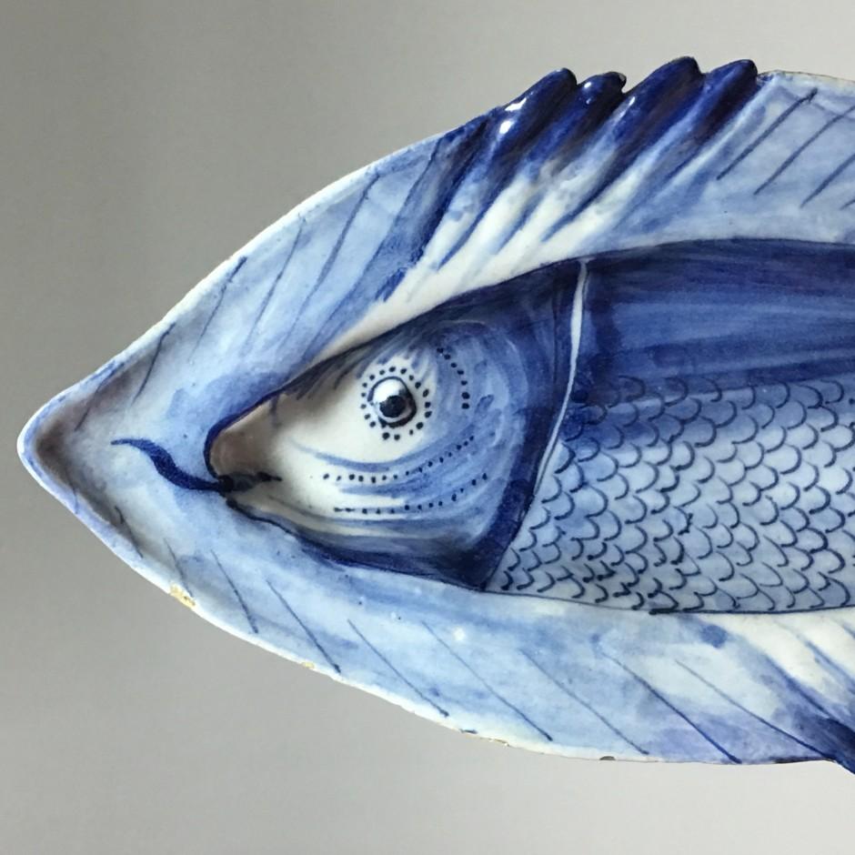 Delft ou Frise –  présentoir figurant un poisson - XVIIIe siècle