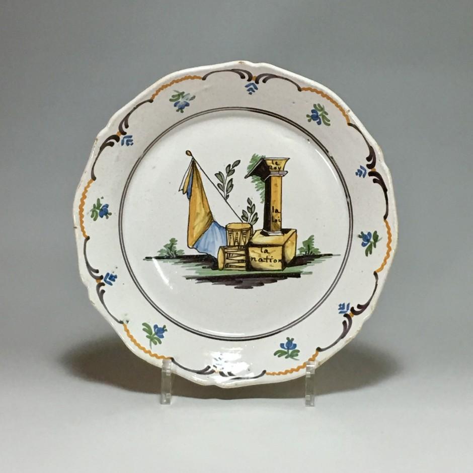 Nevers - Revolutionary plate - eighteenth century