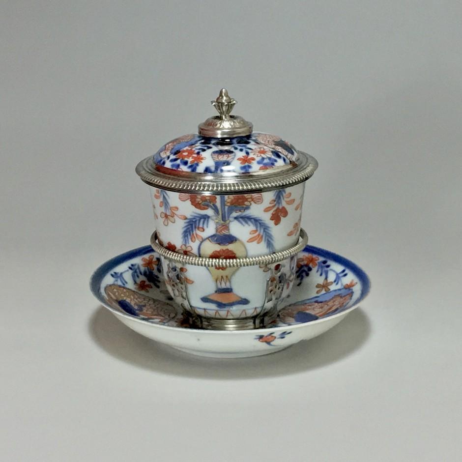 Chine - Gobelet couvert - Monture de Paris 1722-1726 - Vendu