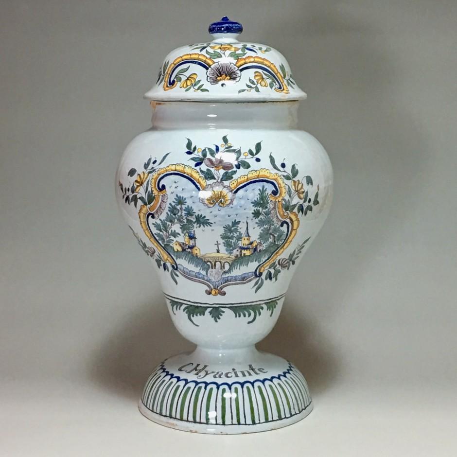 Moulins – Rare grand vase couvert de pharmacie – XVIIIe siècle