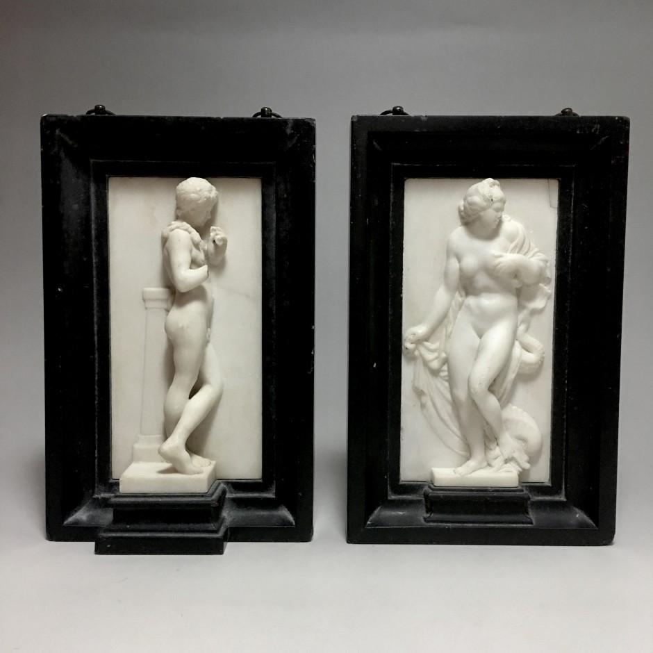 Aphrodite et un Faune - marbre blanc - Fin du XVIIIe siècle