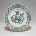 ROUEN - Guillibaud - Assiette à la haie fleurie - XVIIIe siècle  - VENDU