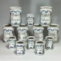 Ensemble de douze pots de pharmacie - XVIIIe siècle - VENDU