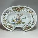 Lyon - Rare grand plat à barbe - XVIIIe siècle