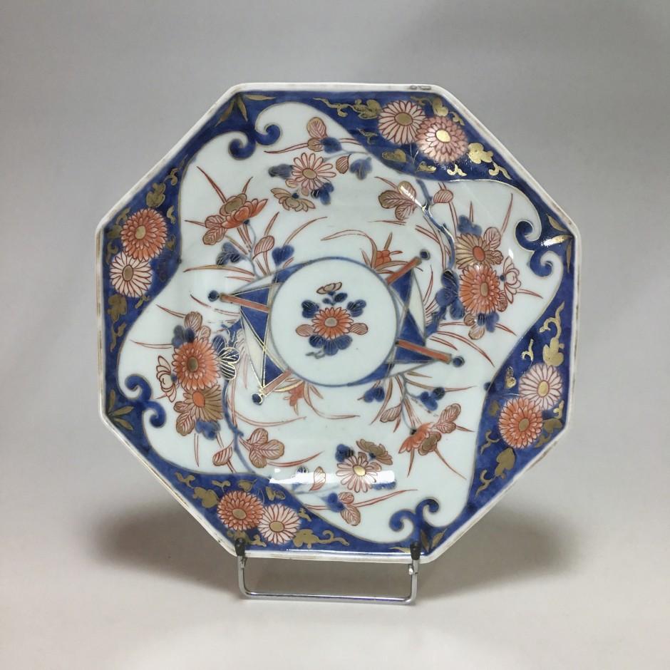Japanese porcelain plate decorated Imari - eighteenth century