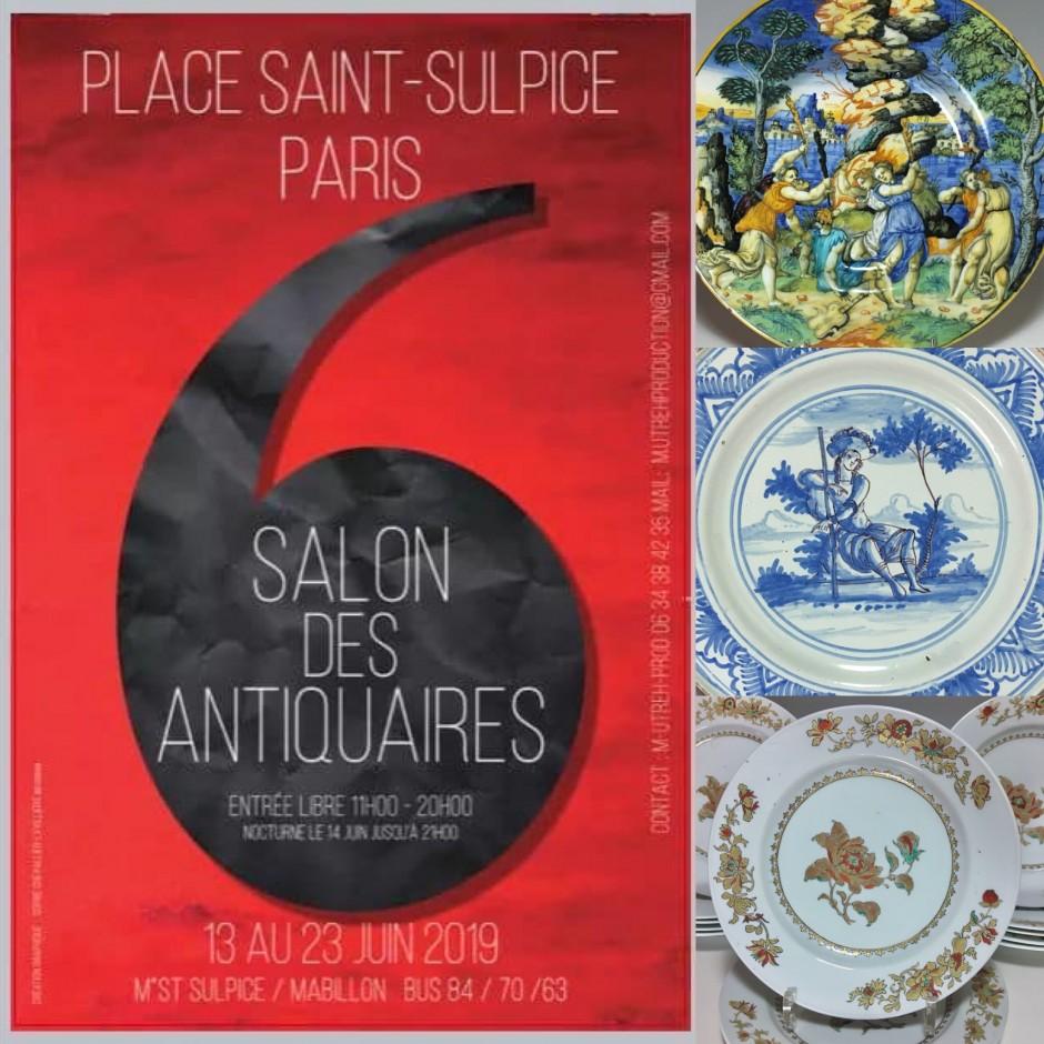 Notre prochain salon à Paris - Place Saint-Sulpice du 13 au 23 juin prochain