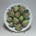 Plate decorated with figs trompe l'oeil - eighteenth century - SOLD