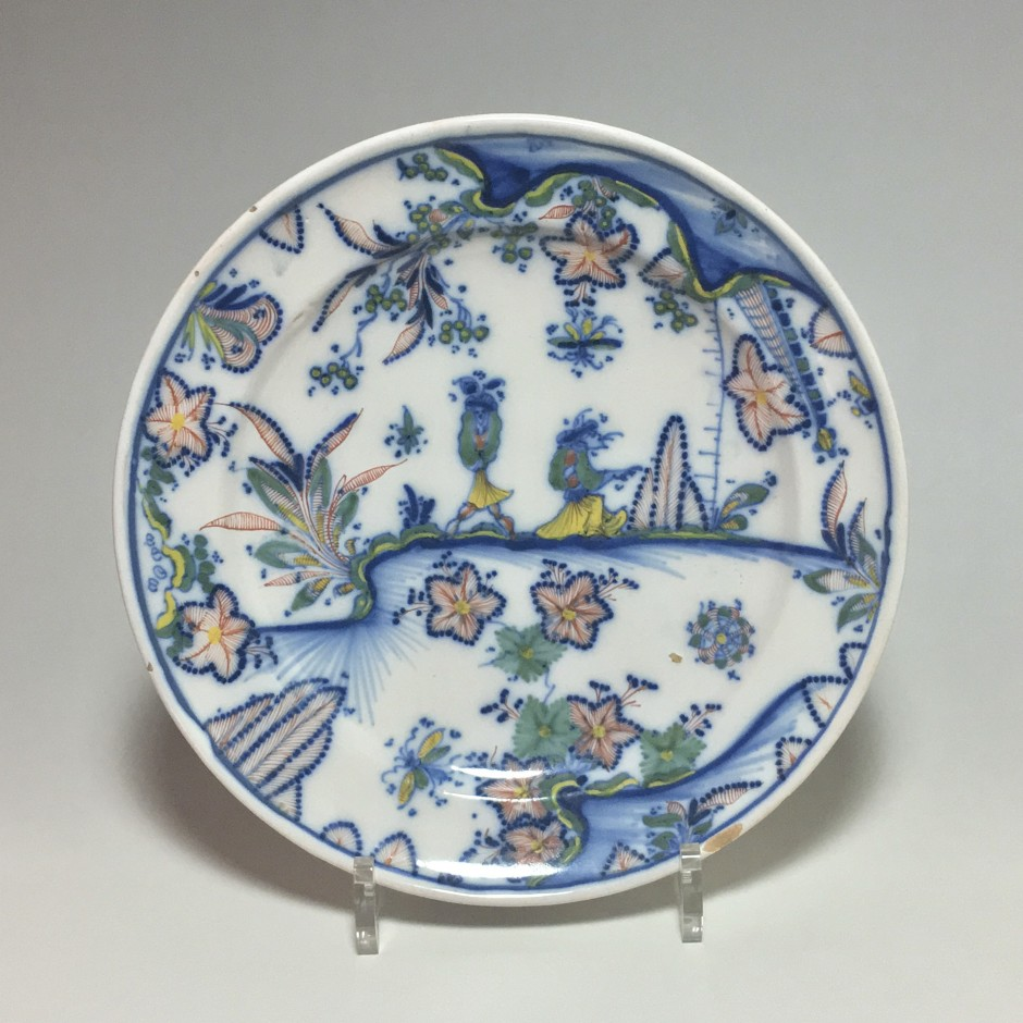 Marseille - Atelier Leroy - Plate with Chinese decoration - Eighteenth Century - SOLD