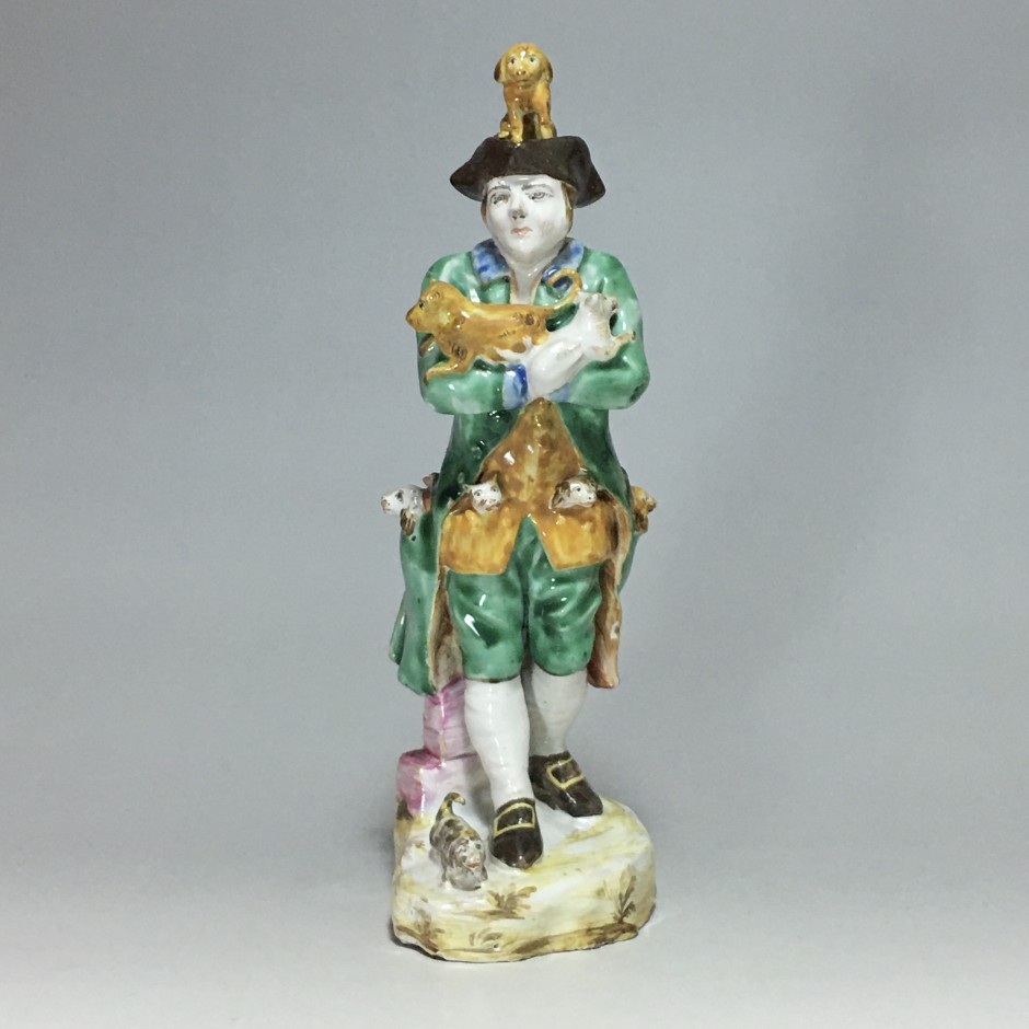 Sceaux - Rare earthenware statuette - eighteenth century