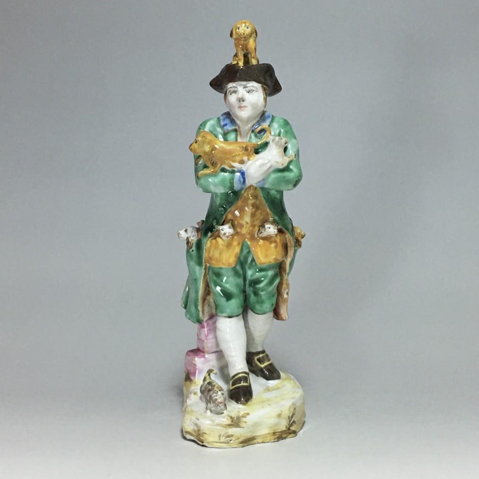 Sceaux - Rare statuette en faïence de Sceaux - XVIIIe siècle