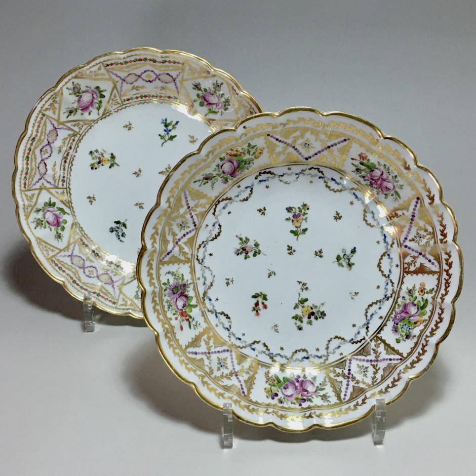 Bordeaux - Paire de Jattes en porcelaine - Manufacture des terres de Bordes - XVIIIe siècle