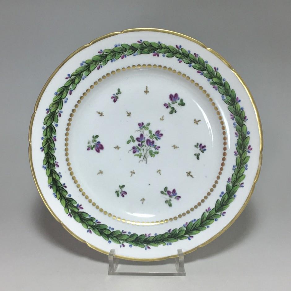 Paris - Porcelain plate (rue du petit carousel) Manufacture of the comte d'artois - Eighteenth century (1)