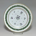 Paris - Porcelain plate - Manufacture of small carousel - eighteenth century (1) - SOLD