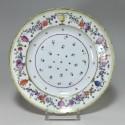 Paris - Porcelain plate from PARIS, Manufacture du Petit Carousel (2) - Eighteenth century - SOLD