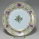 Paris - Porcelain plate, Manufacture du Petit Carousel (3) - Eighteenth century - SOLD