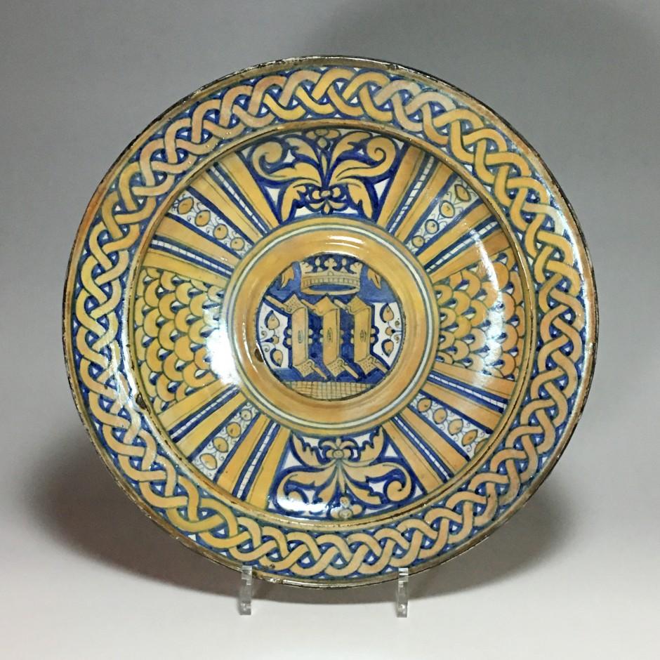 Plat en Majolique de Deruta à lustre métallique – vers 1530
