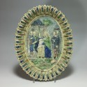 Paris school dish decorated with a religious scene - Nineteenth century - SOLD