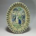 Plat de l'école de Paris décoré d'une scène religieuse - XIXe siècle - VENDU
