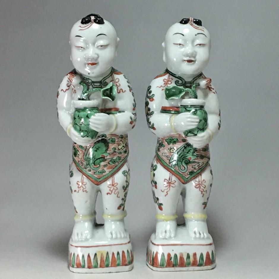 """China - Pair of """"Hoho"""" - Kangxi period (1662 - 1722)"""