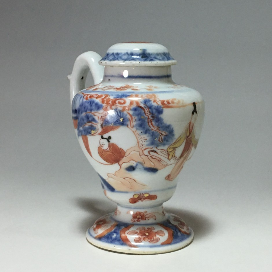 "China Mustard pot with decoration called ""Imari"" - Kangxi period (1662-1722)"
