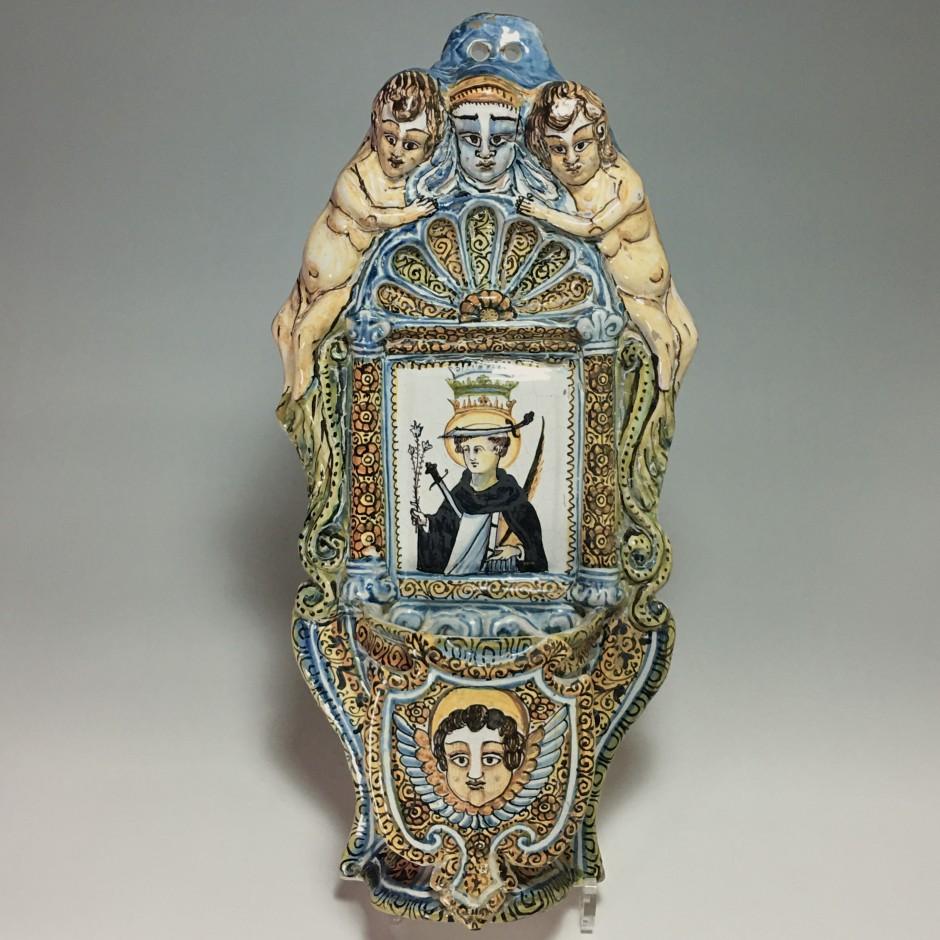 Deruta (Italie) – Grand bénitier d'applique – Début du XVIIe siècle.