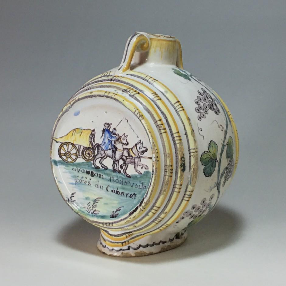Nevers. Rare tonnelet à décor patronymique - Daté 1788