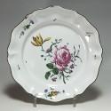STRASBOURG - Joseph Hannong - Assiette en qualité fine - XVIIIe siècle - VENDU