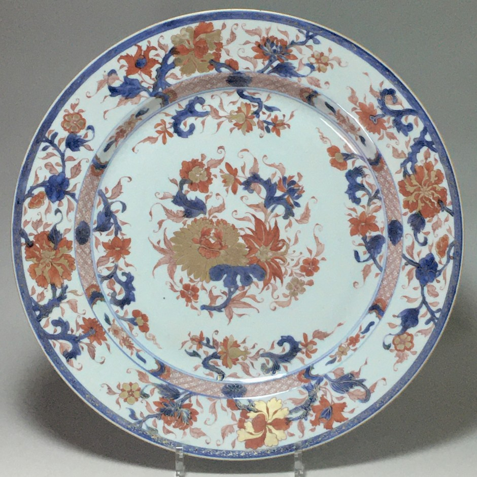 """CHINE – Important plat dit """"Imari"""" - Époque Kangxi (1662-1722)"""