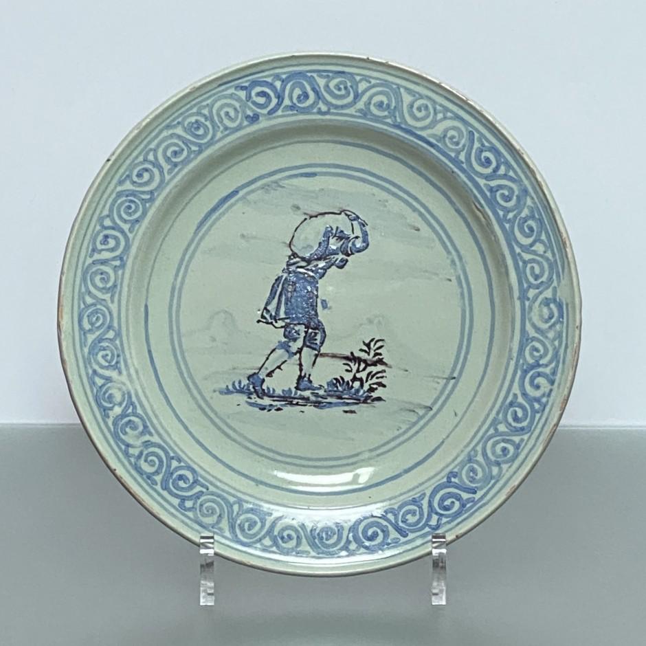 Saint-Jean-du-Désert (Marseille) - Plate depicting a porter - First half of the eighteenth century