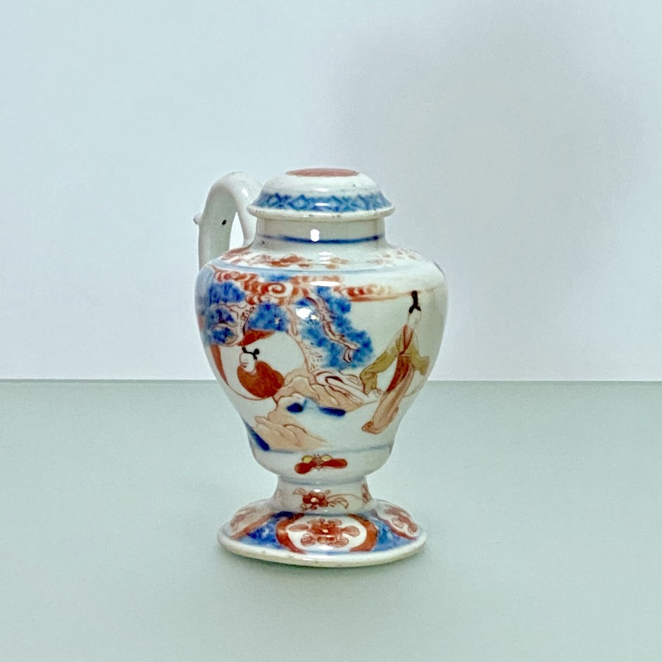"China Mustard pot with decoration called ""Imari"" - Kangxi period (1662-1722)"